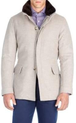 Isaia Cashmere Parka Jacket