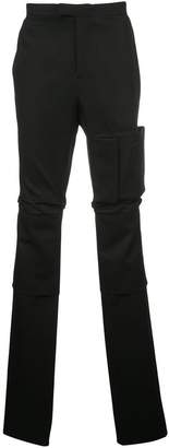 Raf Simons patch pocket high waist trousers
