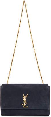 Saint Laurent Reversible Navy Medium Kate Bag