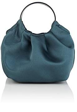 The Row Women's Double-Circle Micro Satin Bag - Lt. Blue
