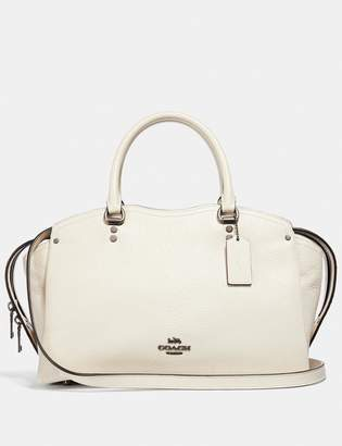 Coach Drew Satchel With Snakeskin Detail