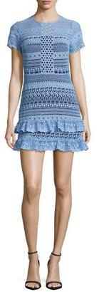 Parker Darcy Lace Tiered-Hem Mini Dress, Powder Blue $288 thestylecure.com