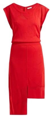 Altuzarra Triomphe Asymmetric Hem Dress - Womens - Red
