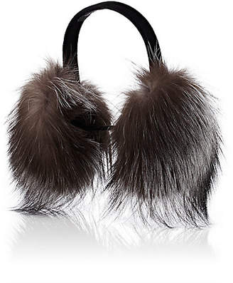 Barneys New York Women's Fur Earmuffs - Gray