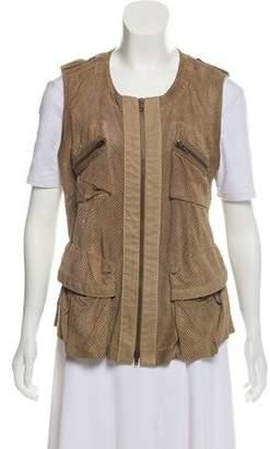Donna Karan Suede Utility Vest