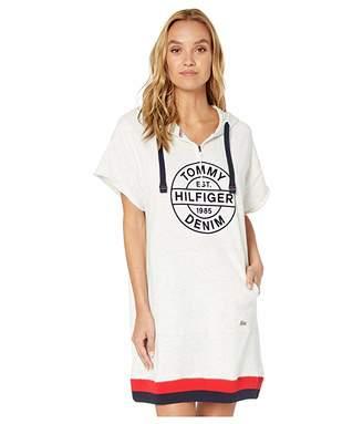 Tommy Hilfiger Adaptive Starburst Short Sleeve Hoodie Dress