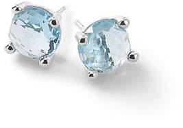 Ippolita Silver Rock Candy Mini Stud Earrings in Sky Blue Topaz