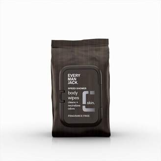 Every Man Jack Fragrance Free Basic Cleansing Face and Body Wipes - 30ct