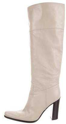 Sergio Rossi Leather Pointed-Toe Boots