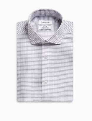 Calvin Klein steel slim fit windowpane dress shirt