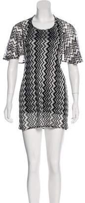 Anna Sui Chevron Mini Dress