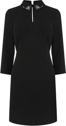 Next Womens Warehouse Black Diamante Collar Dress