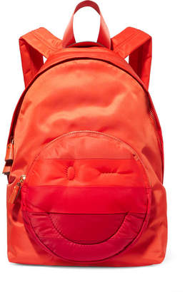 Anya Hindmarch Chubby Striped Shell Backpack - Red