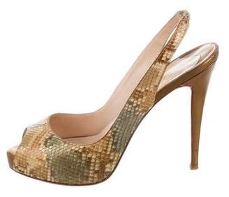 Christian Louboutin Snakeskin Private Number Pumps