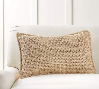 Pottery Barn Lattice Paper Knit Lumbar Pillow Cover
