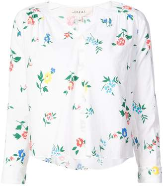 The Great Boutonniere wildflower print top