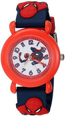 Marvel Boys Spider-Man Analog-Quartz Watch with Plastic Strap