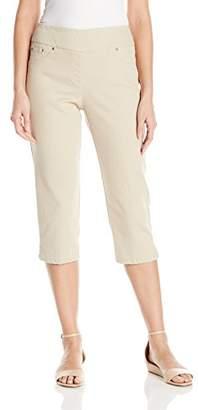 Ruby Rd.. Women's Plus Size Pull-on Extra Stretch Denim Cropped Capri
