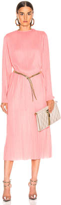 Givenchy Pleated Long Dress in Pink | FWRD