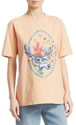 Acne Studios Bemabe Embroidered Moose T-Shirt