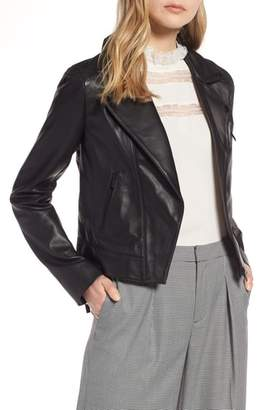 Halogen Leather Moto Jacket