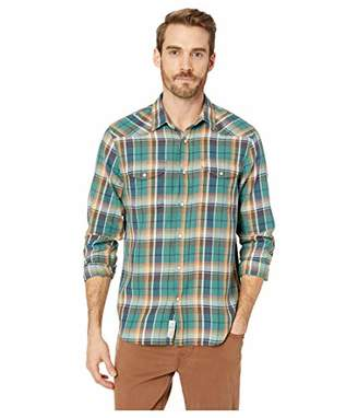 Lucky Brand Men's Long Sleeve Button UP Santa FE Western Shirt