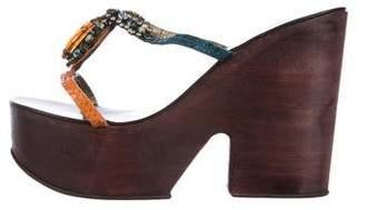 Giuseppe Zanotti Embellished Platform Sandals