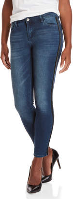 Buffalo David Bitton Beam Mid-Rise Beaded Skinny Jeans