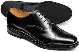 Charles Tyrwhitt Black Goodyear welted Oxford rubber sole shoe