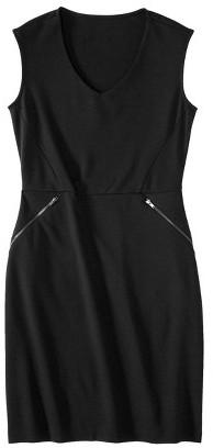 Mossimo Petites V-Neck Zipper Pocket Dress - Assorted Colors