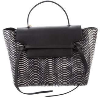 Celine Céline Python & Leather Mini Belt Bag Black Céline Python & Leather Mini Belt Bag
