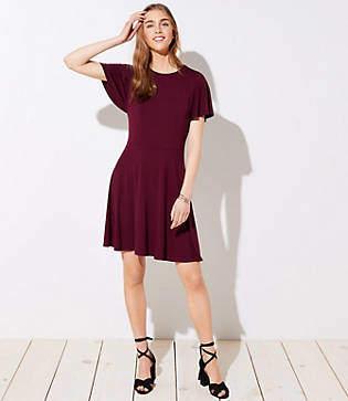 LOFT Petite Flare Sleeve Dress