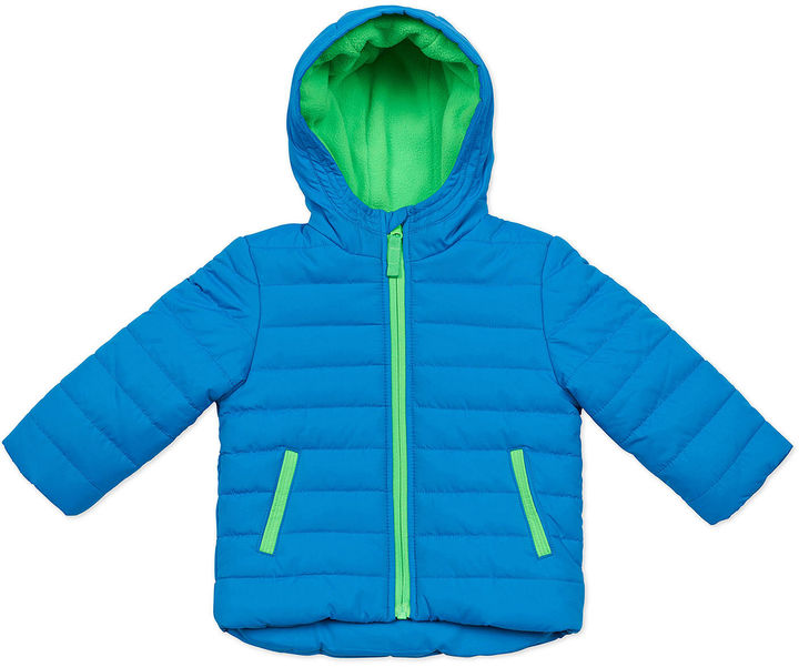 Carter's CARTERS Carter's Blue Quilted Long-Sleeve Hooded Coat - Toddler 2-4T
