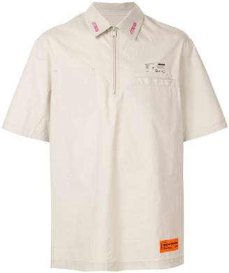 Heron Preston zip front shirt