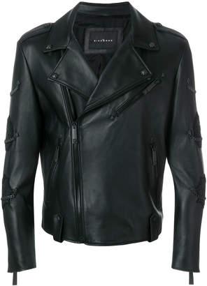 John Richmond Perfecto chain detail biker jacket