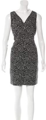 Akris Punto Printed Shift Dress Black Printed Shift Dress