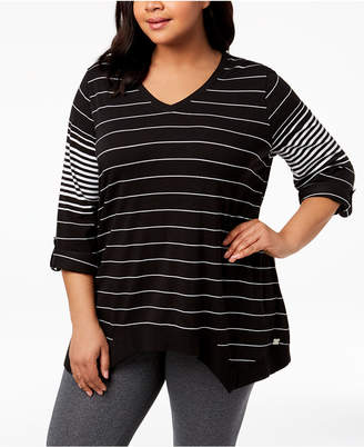 Calvin Klein Plus Size High-Low Active Top