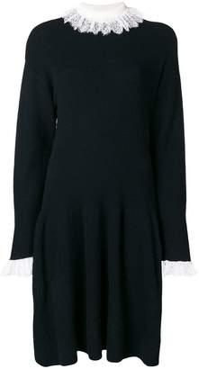 Philosophy di Lorenzo Serafini lace trim sweater dress