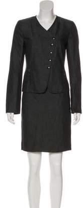 Akris Punto Chambray Pencil Skirt Suit