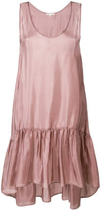Gold Hawk asymmetric lace dress