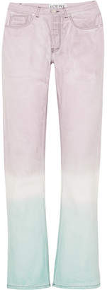 Loewe Tie-dyed High-rise Straight-leg Jeans - Lilac