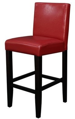 Monsoon Pacific Villa Faux Leather Red Counter Stool (Set of 2)