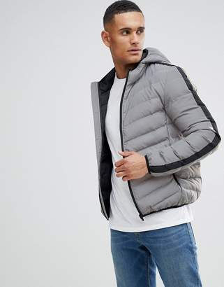 Brave Soul Reflective Hooded Puffer Jacket