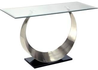 Nessa Furniture of America Contemporary Sofa Table, Black and Satin