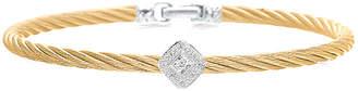 Alor 18K White Gold Stainless Steel Diamond Cable Bracelet