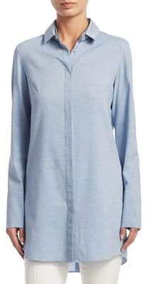 Akris Punto Long-Sleeve Cotton Tunic