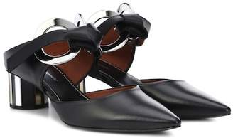 Proenza Schouler Leather metal ring mules