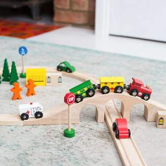 Harmony at Home Children's Eco Boutique Personalised Wooden Train Set