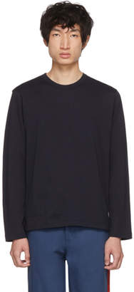 Comme des Garcons Navy Forever Basic Long Sleeve T-Shirt