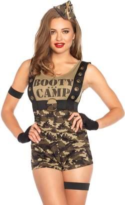 Leg Avenue Women's 6 Piece Booty Camp Cutie Military Costume